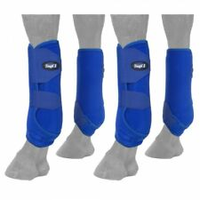 Set of 4 Royal Blue Extreme Vented Neoprene Size Large Sport Boots Horse Tack