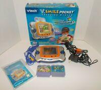 Vtech V Smile Pocket Handheld Learning Game System With Games & More Extras