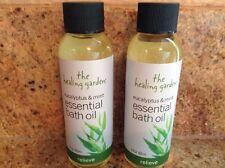 Lot of 2 The Healing Garden Eucalyptus & Mint Essential Bath Oil 2 Oz. each