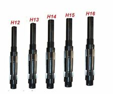 5 PCS ADJUSTABLE HAND REAMER SET H-12 TO H-16 SIZES 1.1/16 INCH TO 2.7/32 INCH