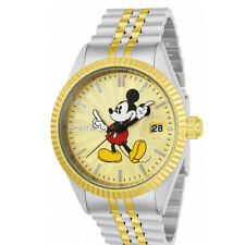 Invicta 43mm DISNEY Mickey Mouse Limited Edition Silver/Gold Two Tone SS Watch