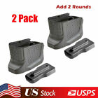 2 Pack Tactical Defense Grip Magazine Base Plate Enhanced Extension For Glock 43