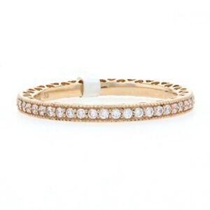 NEW Authentic Hearts of Pandora Ring - 14k Gold Eternity Band 58 (8.5) 150181CZ