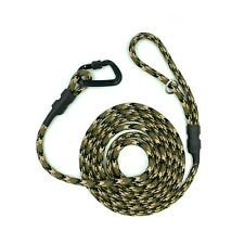 Handmade Camouflage Climbing Rope Dog Leash / Lead With Climbing Carabiner