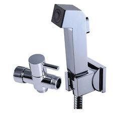 Toilet Handheld Shower Shattaf Bidet Sprayer Douche kit Set Brass G1/2 T-adapter