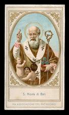 antico santino cromo-holy card S.NICOLA DI BARI