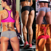 Womens Yoga Shorts Sports Gym Fitness Running Activewear Bottoms Athletic Pants