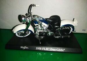 Moto Motocicletta Maisto Harley Davidson 1958 FLH Duo Glide 1/18