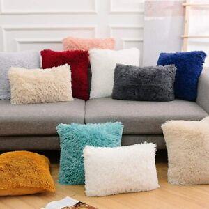 4Pcs Home Decor Faux Fur Cushion Cover Pillowcase Furry Pillow Cushion Cover UK