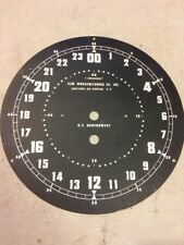 US GOVERNMENT ZULU 24 HOUR CLOCK DIAL ELM MANUFACTURING LARGE. 1