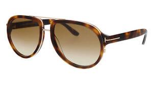 Tom Ford FT0779 53F Geoffrey  Blonde Havana Pilot Sunglasses