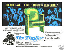 THE TINGLER LOBBY CARD POSTER BQ 1959 VINCENT PRICE WILLIAM CASTLE JUDITH EVELYN