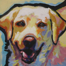 artav Yellow Labrador Lab Art Print of Watercolor