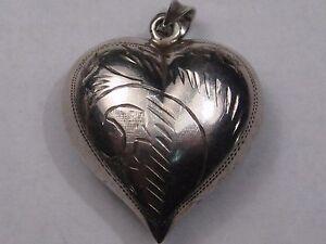 Sterling Silver Heart Pendant.  #14