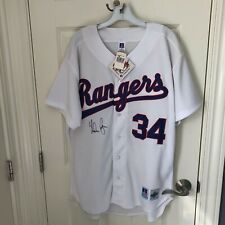 NOLAN RYAN ~ #34 Texas Rangers AUTOGRAPHED Russell Jersey