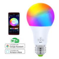 Wifi Smart LED light Bulb 7W E26/E27 RGBW Dimmable for Alexa/Google Home
