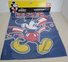 "Disney Mickey Mouse Garden Flag 12x18"" patriotic stars summer Usa 90 years magic"