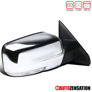 For 2009-2012 Dodge Ram 1500 Chrome Power Heat Right Mirror+LED Signal+Puddle