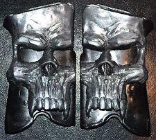 Ruger P85, p89, p90, p91 pistol grips pearl skull on black plastic