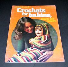 VINTAGE CROCHET PATTERN BOOK COLUMBIA-MINERVA 1974 FOR BABIES INFANTS & TODDLERS