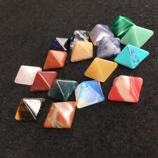AU STOCK Set of 7 Chakra Pyramid Stone Set Crystal Healing - Chakra Set