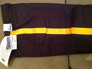 NWT Blauer 8215 - police / security 6 pocket uniform pants w/ gold stripe Sz 38
