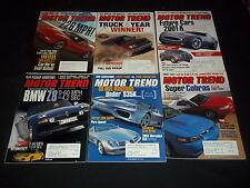2000-2001 MOTOR TREND MAGAZINE LOT OF 15 ISSUES - BEAUTIFUL FRONT COVERS - L 967