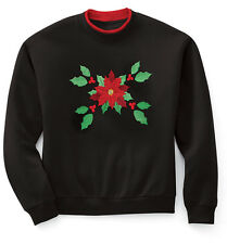 WOMENS XXL POINSETTIA HOLIDAY PULLOVER SWEATSHIRT NEW IN PACKAGE