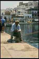 067098 Fisherman Paros Cyclades A4 Photo Print
