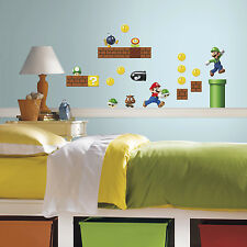 Super MARIO Brothers Build a Scene wall stickers 45 decals Nintendo scrapbook