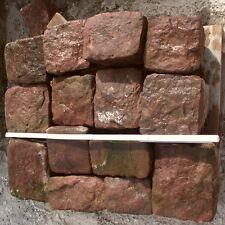 0,5 qm Pflastersteine Buntsandsteine Naturstein Rasenkante Kopfsteinpflaster