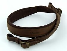 Leather Rifle Sling with Velour, Gun, Shotgun Strap, Holder, Hunting, Weapon