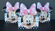 INSPIRED 24pc Disney  Minnie Mouse Birthday Party Favor hard boardGoodie Gift 3D