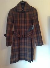 BNWT 100% Auth MARC JACOBS Ladies Checked Mac Jacket / Coat. XS  RRP $578