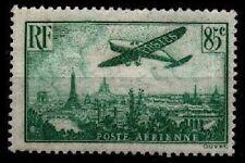 Poste AÉRIENNE 8a : AVION VERT clair / PARIS, Neuf * = Cote 25 € / Timbre France