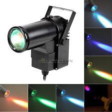 9W full Color Pin RGB LED DJ Effect Light Party Club Bar Stage Lighting Black
