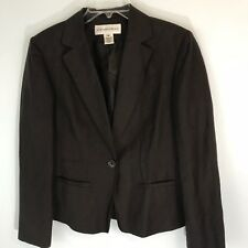 Jones New York Suit Women's  Brown One Button Front Pocket Blazer/Jacket Size 8