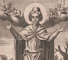 1625 Rare gravure Daniel et quatre bêtes fantastiques Bible bestiaire monstres
