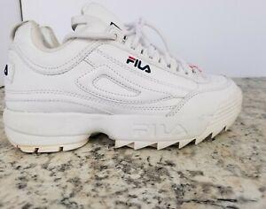 Fila Disruptor II Kid's/Girl's Fw02945-111 Shoes White Size: 3