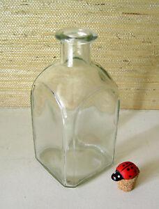 Square Glass Bottle / Home Decor