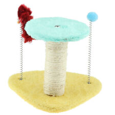 Two Layer Cat Tree Scratch Post Bed Furniture for Cat with Plush Spring Toys