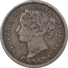 1900 CANADA 10 CENTS - KM #3, CIRCULATED EXAMPLE