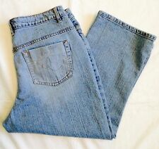 MISSES/JUNIORS RIDERS COPPER COLLECTION BY LEE BLUE DENIM CAPRI PANTS ~ 13/14M