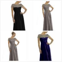 Black Grey Mother of the Bride Dresses Beading FULL Length Short SIZE4 6 10 12