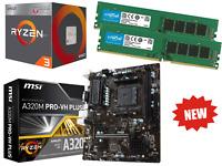 New AMD Quad Core Ryzen 3 Gaming Bundle 16GB RAM, MSI Motherboard