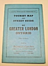 1951 London Ontario Canada tourist map & street guide sold by McCormick's Cigar.