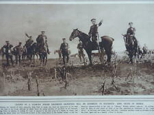 1914 SERBIA KING PETER; SERBIAN ARMY RAILWAY BRIDGE OVER THE SAVE WWI WW1