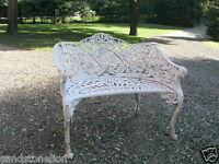 Fine Coalbrookdale Antique Cast Iron Bench 'PASSION FLOWER' Victorian RARE ITEM