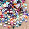 Flat Back Pearl Rhinestone Face Gems Embellishments Craft Card DIY Decor 2-14mm