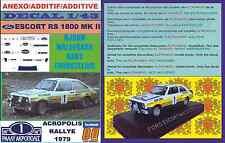 ANEXO DECAL 1/43 FORD ESCORT RS 1800 MK II ROTHMANS WALDEGARD ACROPOLIS 79 (04)